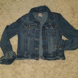 Denim jacket girls sz 10/12